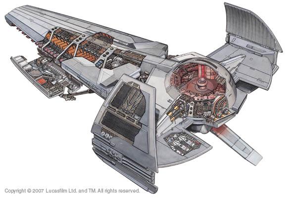 Star wars letadla - Vaisseau dark maul ...